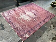Oversize Pink Rug,Antique Vintage Carpet,Bohemian Rug,Distressed Vintage Rugs
