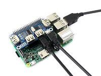 Waveshare 4 Port USB HUB HAT for Raspberry Pi USB2.0/1.1 to UART Converter 5V