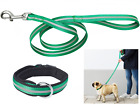 """New Reflective Leash 48  """" / 123 cm and Padded Collar for Dogs up to 71 lb 32kg"""