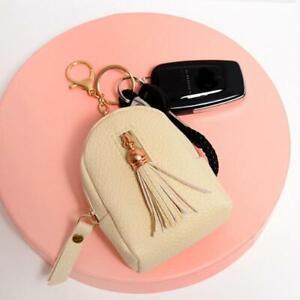 Women Mini Coin Purse Tassel Key Card Wallet Headset Data Line Storage Bag 3pcs