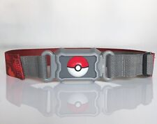 2016 Pokemon Nintendo Kids Plastic Adjustable Red Gray Buckle Belt