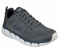 Charcoal Mesh Skechers Shoes Men Memory Foam Sport Athletic Casual Sneaker 52857