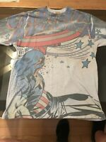 Vintage!! Marvel Comics 2009 CAPTAIN AMERICA T Shirt RARE Size Small Pre-owned