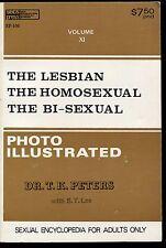 THE LESBIAN  THE HOMOSEXUAL  THE BI-SEXUAL 1970s Edward D. Wood Jr. Book NM