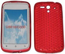 TPU Pattern Soft Gel Case Protector Cover Red For Huawei Ascend U8818 U8815 G300