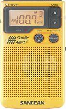 Sangean DT-400W AM/FM Digital Weather Alert Pocket Radio DT-400W New in Box!