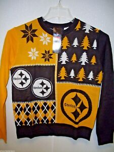 NFL Pittsburgh Steelers Busy Block Ugly Sweater Youth Medium by FOCO