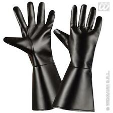 Black Gloves Gothic Pirate Halloween Fancy Dress Costume Accessory