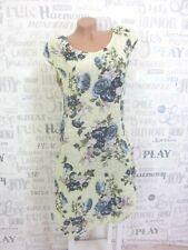 ITALY Sommerkleid Hängerchen Tunika Kleid LEINEN-Optik IBIZA 38 40 42 Grün E654