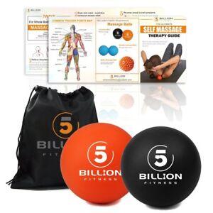 2 PCS Lacrosse Balls Massage set Injury Muscle Foot Release Myofascial Yoga