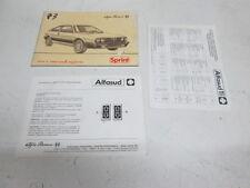 Manuale uso e manutenzione Alfasud Sprint TI anno 1983  [1088.17]