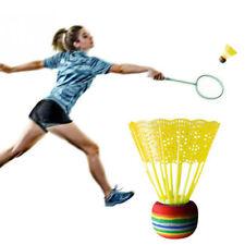 10X Badminton Rainbow Ball Head Nylon Badminton for Game Sport Entertainm