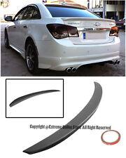 For 11-15 Chevrolet Cruze ABS Plastic Primer Black Rear Trunk Wing Lip Spoiler
