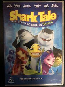 Shark Tale DVD Angelina Jolie, Will Smith, Robert De Niro, Renee Zellweger Reg 4