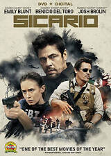 Sicario (DVD, 2015, WS) Emily Blunt, Benicio Del Toro SLIP COVER INCLUDED  LN