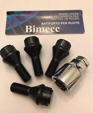 M12X1.5 pernos de bloqueo Hilo Negro 26mm BIMECC Llantas De Aleación 60 grados de BMW 72.6