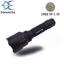 DanceLite C8 CREE XP-L V5 10xAMC7135 1MODE(on/off) LED Hunting Flashlight Torch