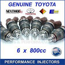 6 x TOYOTA 800cc 1001-87092 Fuel Injector Supra 2JZGTE 2JZ SARD 63564 80lb Denso