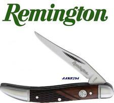"Remington Heritage Small Toothpick Folder 3.0"" Closed, Wood Handles # R40017Br"