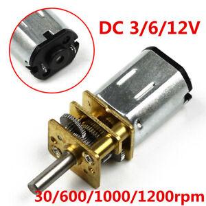 N20 DC Motor 3/6/12V Micro Speed Reduzieren Rad GetriebeMotor für Modellbau DE