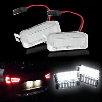 2x LED License Number Plate Light For Ford Focus Fiesta C-MAX S-MAX Mondeo Kuga