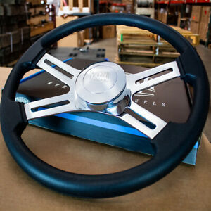 """18"""" Black Polyurethane Steering Wheel with Smooth Horn for Freightliner 96-06"""