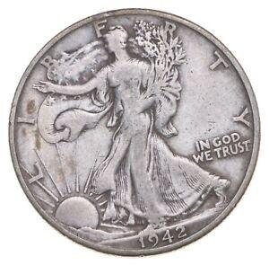 Better 1942-D - US Walking Liberty 90% Silver Half Dollar Coin Set Break *161