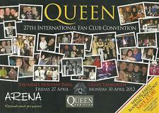 RARE / FLYER - QUEEN : FREDDIE MERCURY FAN CLUB INTERNATIONAL 2012 / 2 VOLETS