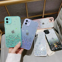Shockproof Glitter Clear Hard Case Cover For iPhone 11 Pro Max XS XR X 7 8 SE 2