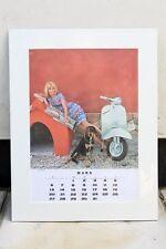 VESPA PIAGGIO Vintage MARCH 1966 Calendar 60s MODS SS180 SCOOTER Diane Cilento