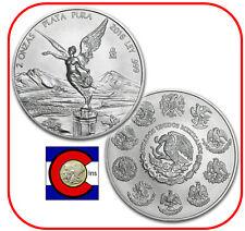 2016 Mexico Libertad 2 oz BU Silver Coin in plastic airtite