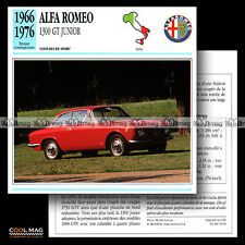 #053.01 ALFA-ROMEO 1300 GT JUNIOR (1966-1976) - Fiche Auto Car card