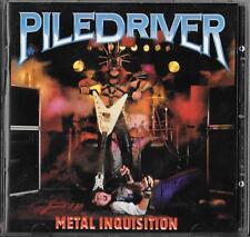 PILEDRIVER Metal Inquisition (1984) CD 1997 Maximum Metal Exorcist Virgin Steele