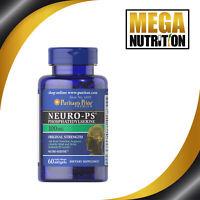 Puritan's Pride Neuro-PS Phosphatidylserine 100mg 60caps | Focus & Circulation