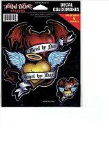 Angel & Devil Hearts Window Decal Sticker for Car/Truck/Motorcycle/Laptop 6547