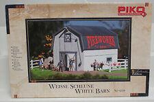 PIKO 62120 G Scale Model Train Buildings White Barn