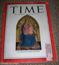 TIME MAGAZINE Virgin and Child Dec. 26, 1955