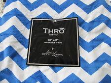 Thro Blanket, Throw, Chevron Strong Blue Nautical Microluxe 50X60 Nwtags
