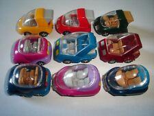 MINI VANS SCOOTERS MODEL CARS SET 1:87 H0 - KINDER SURPRISE PLASTIC MINIATURES