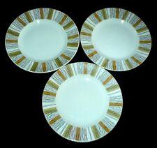MIDWINTER SIENNA  Retro 8 3/4 inch Plates x 3 c1970 Jessica Tait