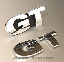 GT Grill + Rear Boot Badge Emblem Logo For VW Golf Scirocco Passat CC Sport 19gs