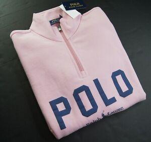 POLO RALPH LAUREN Men's Classic Fit Logo Quarter-Zip Pullover Sweatshirt NEW NWT
