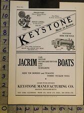 1933 TOY AD VEHICLE TRAIN KEYSTONE BOSTON MASS PROJECTOR FILM MOVIE CAMERA TC10