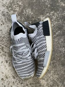 Adidas Mens Running Shoes Size 10 Sneakers Gray Black Primeknit NMD Camo Boost