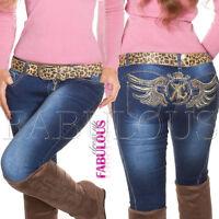New Sexy Women's Jeans Skinny Leg Hot Denim Pants Size 6 8 10 12 14 XS S M L XL