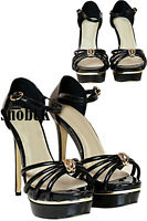 New Womens Ladies High Stiletto Heels Platform Sandals Strappy Shoes Size