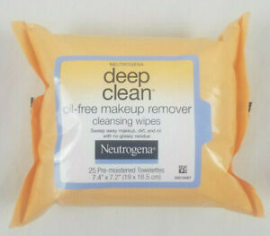 Neutrogena Deep Clean Make Up Remover Cleansing Wipes Pads Cloths 25 Wipes