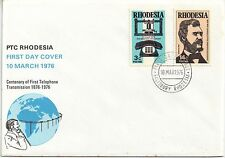 Rhodesia  1976 Centenary of the First Telephone Transmission 1876 FDC.