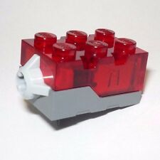 New Lego Electric Light Brick 2 x 3 x 1 1/3 Red LED Trans-Red Top light-up piece