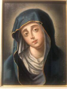 Dipinto antico su legno Madonna Capoletto